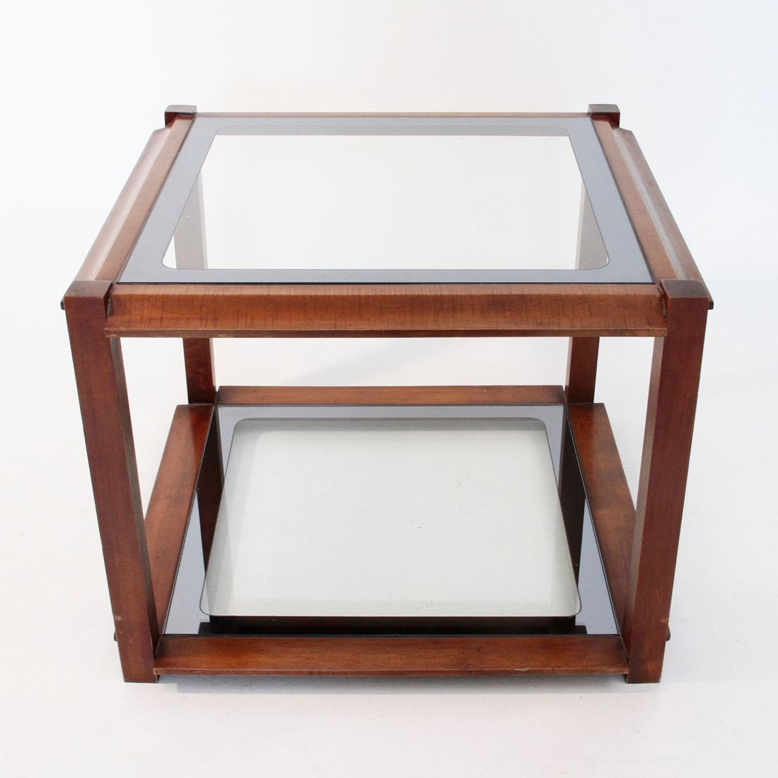 Italian Square Wooden Coffee Table For Sale At Pamono