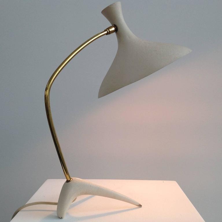 vintage white gold desk lamp for sale at pamono. Black Bedroom Furniture Sets. Home Design Ideas
