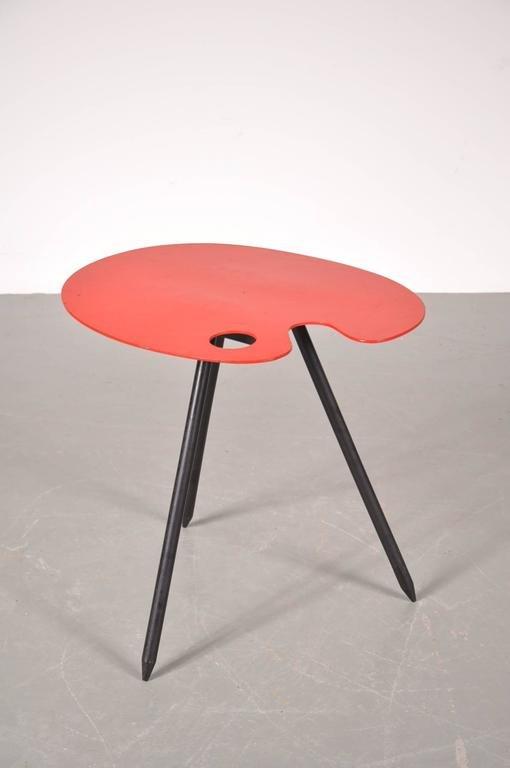 Model palette table by lucien de roeck for bois manu 1958 for Table en palette de bois