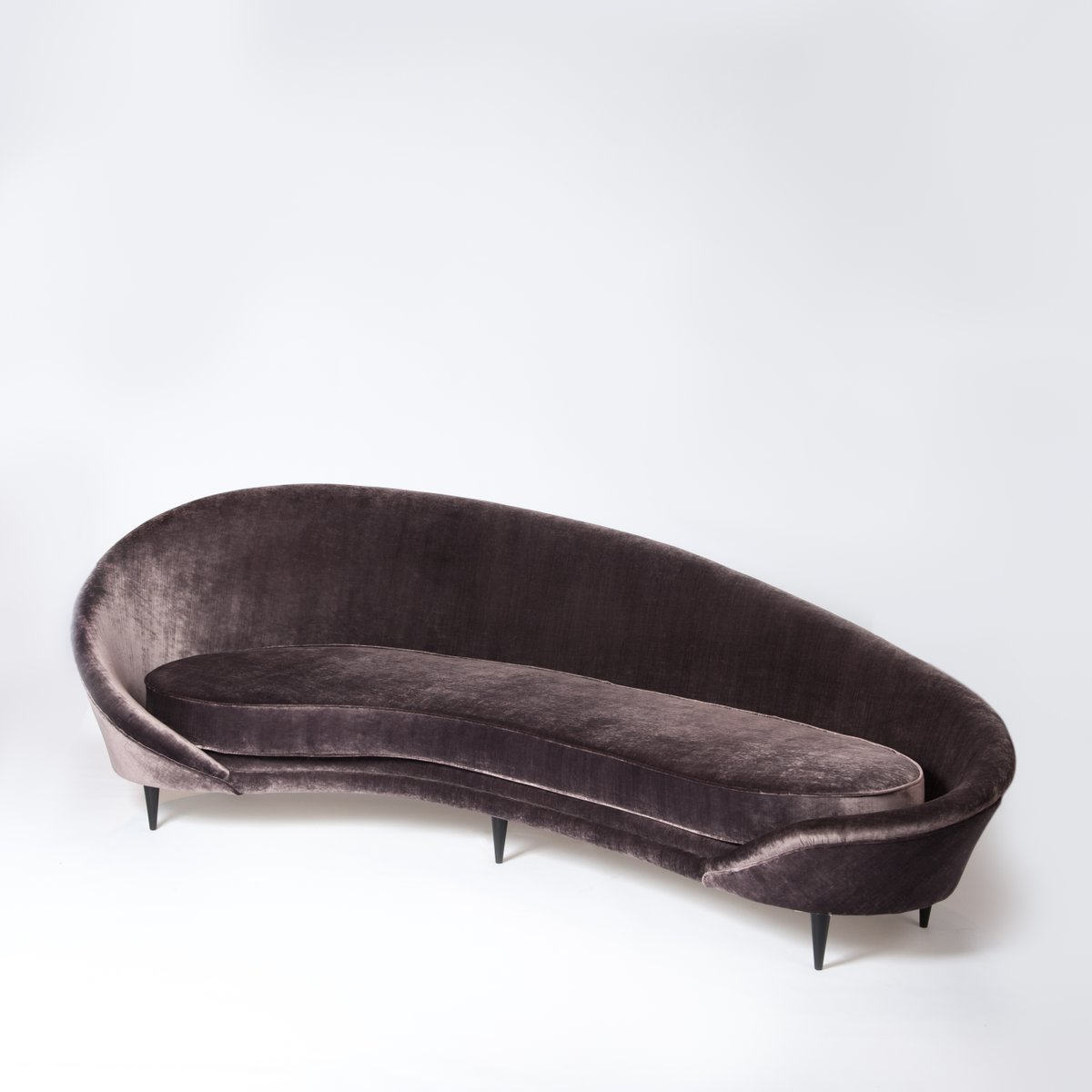 Vintage Curved Sofa by Federico Munari 1960s for sale at  : vintage curved sofa by federico munari 1960s 2 from www.pamono.com size 1200 x 1200 jpeg 52kB