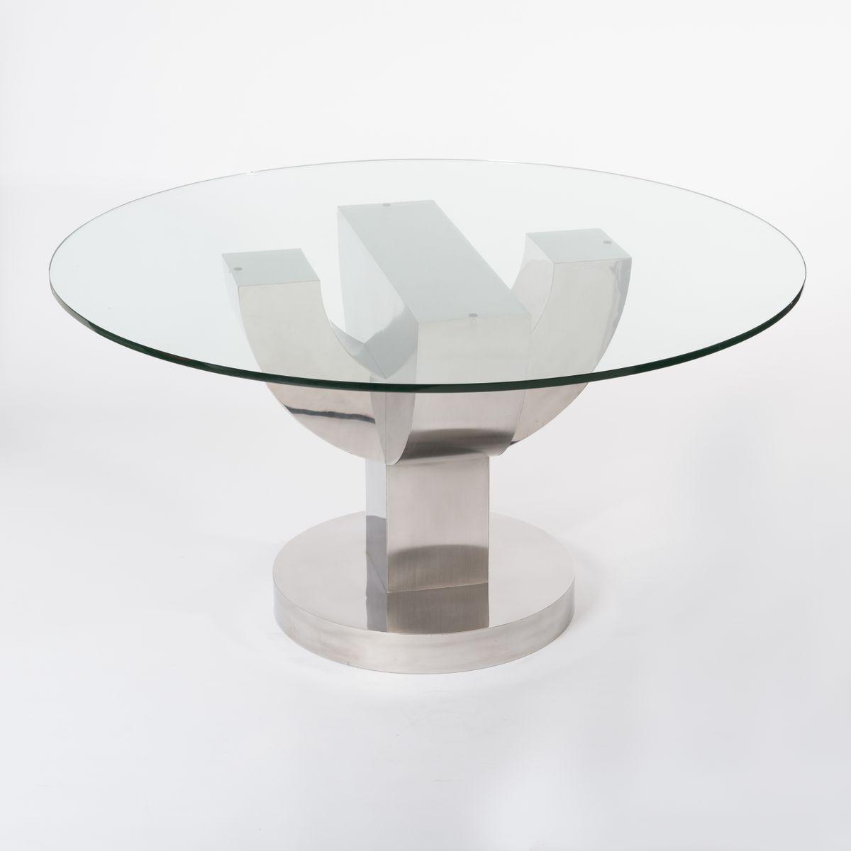 italienischer runder tisch mit kaktusgestell 1970er bei pamono kaufen. Black Bedroom Furniture Sets. Home Design Ideas