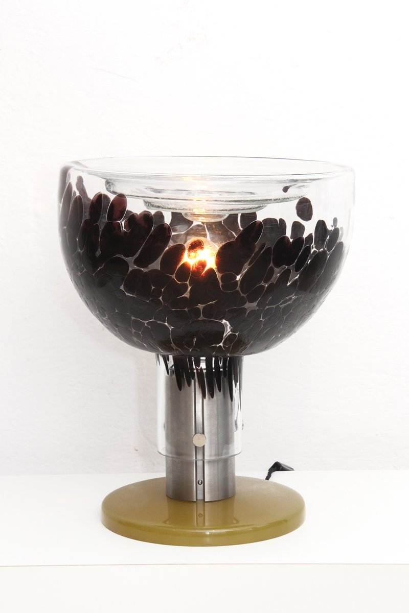 italian murano glas table lamp 1960s for sale at pamono. Black Bedroom Furniture Sets. Home Design Ideas