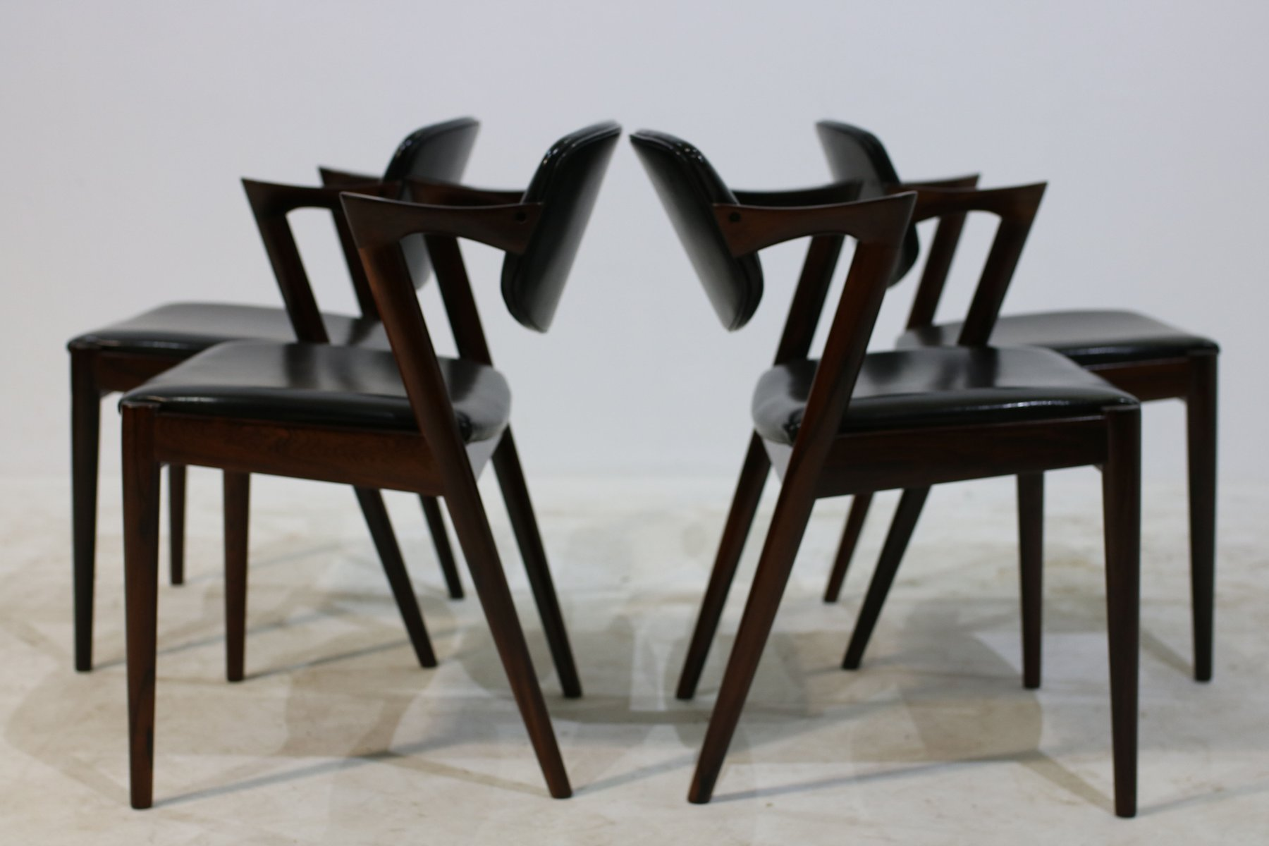 Mid century model 42 rosewood chairs by kai kristiansen set of 4 for sale at pamono - Kai kristiansen chairs ...