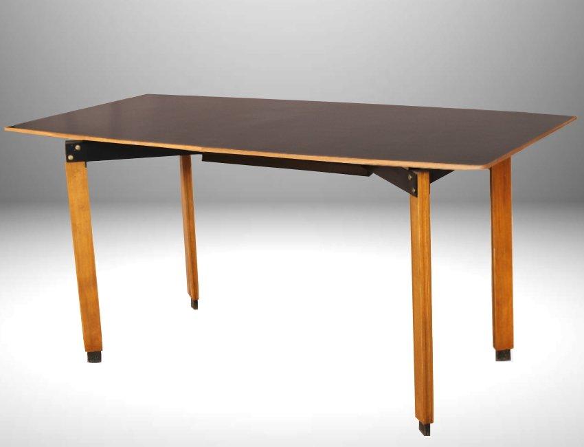 schwarzer mid century esstisch von ingazio gardella 1955 bei pamono kaufen. Black Bedroom Furniture Sets. Home Design Ideas