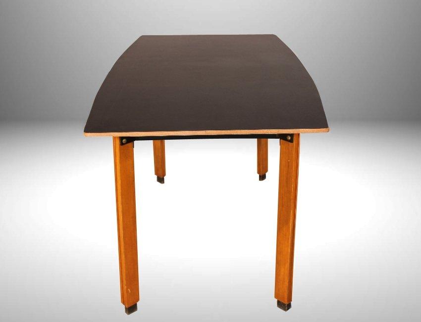 schwarzer mid century esstisch von ingazio gardella 1955. Black Bedroom Furniture Sets. Home Design Ideas