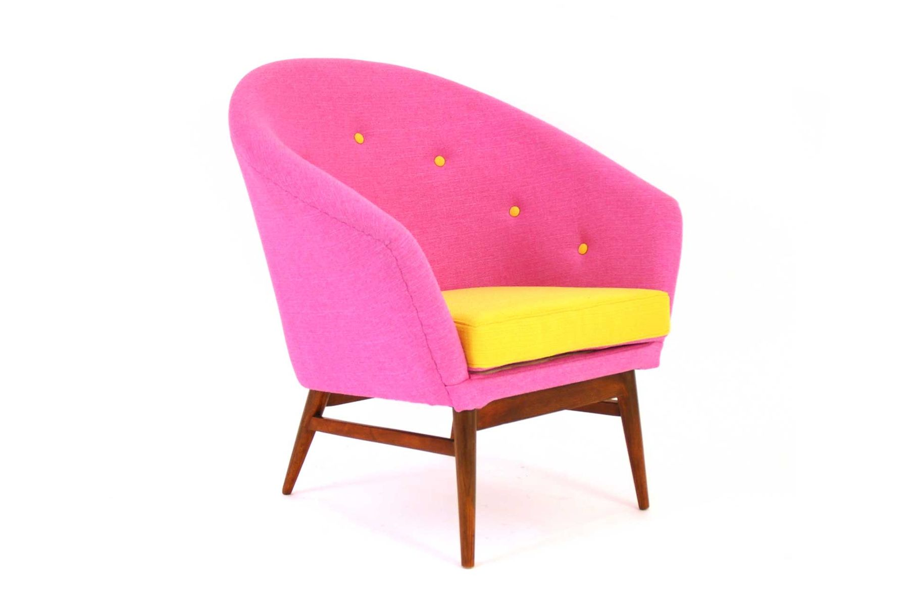 Austrian Pink Amp Yellow Chair 1950s For Sale At Pamono
