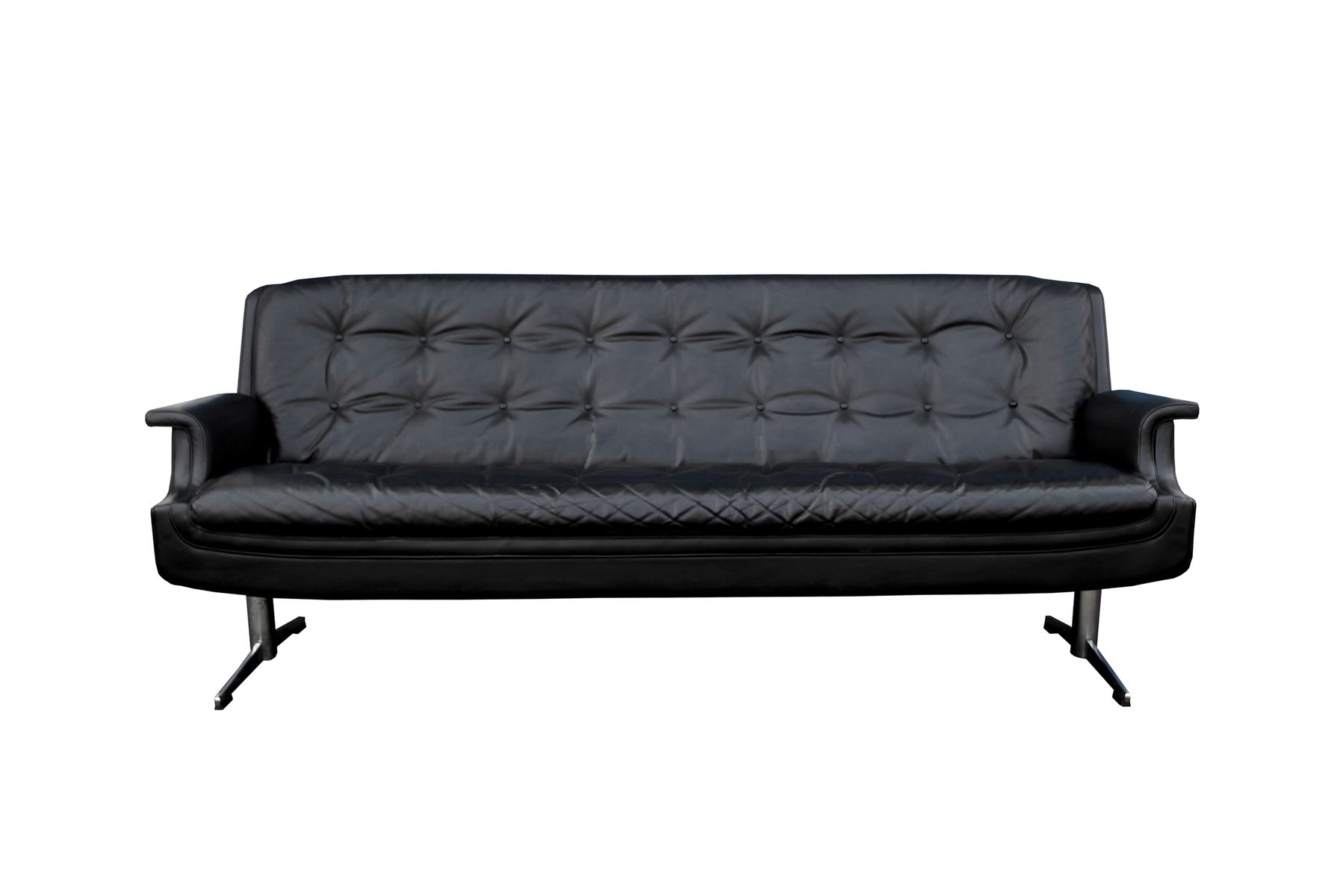 space age 3 sitzer ledersofa 1960er bei pamono kaufen. Black Bedroom Furniture Sets. Home Design Ideas