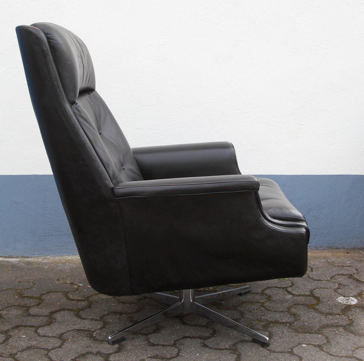 Grand fauteuil en cuir 1960s en vente sur pamono - Fauteuil cuir belgique ...