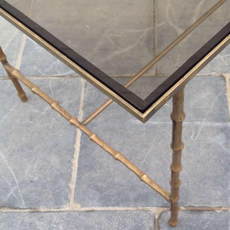 beistelltisch mit beinen in bambus optik von maison bagues. Black Bedroom Furniture Sets. Home Design Ideas