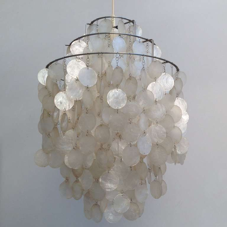 Fun Lamp fun 1 dm shell lampverner panton for lüber, 1967 for sale at