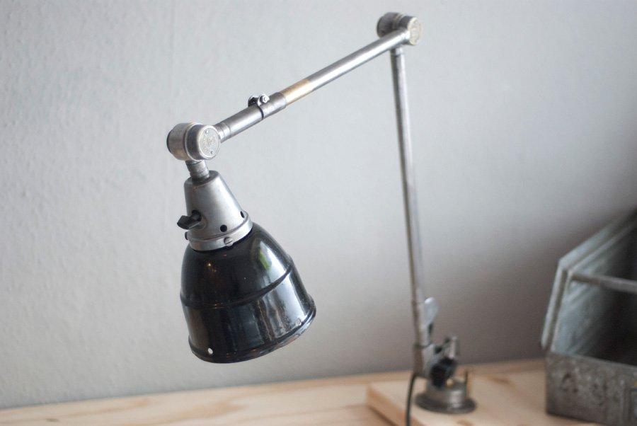 vintage gelenk nr 1 lampe aus poliertem stahl von curt. Black Bedroom Furniture Sets. Home Design Ideas