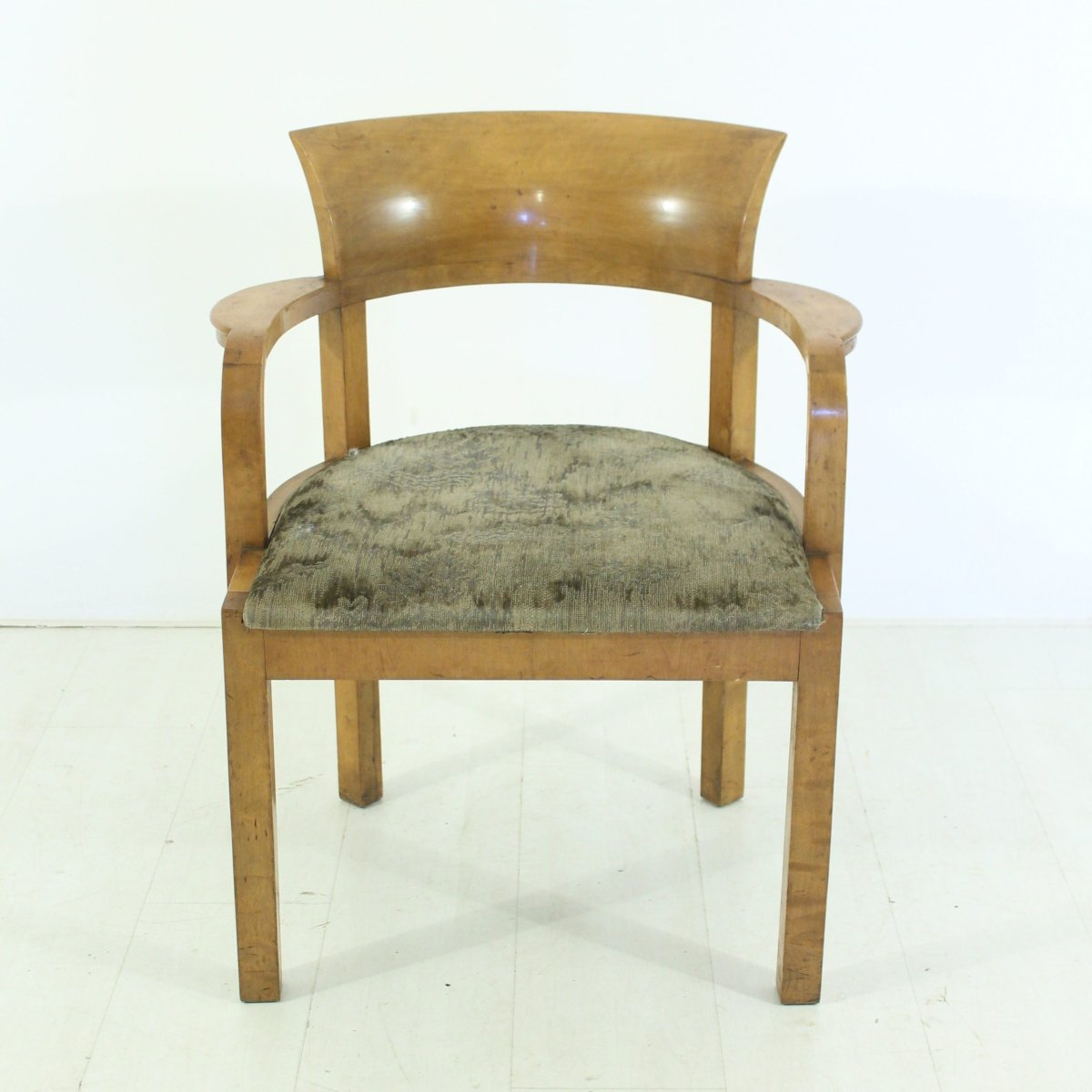 art deco armlehnstuhl aus holz 1930er bei pamono kaufen. Black Bedroom Furniture Sets. Home Design Ideas