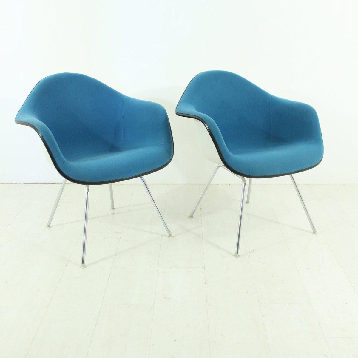 chaise vintage bleue par charles ray eames pour vitra en vente sur pamono. Black Bedroom Furniture Sets. Home Design Ideas