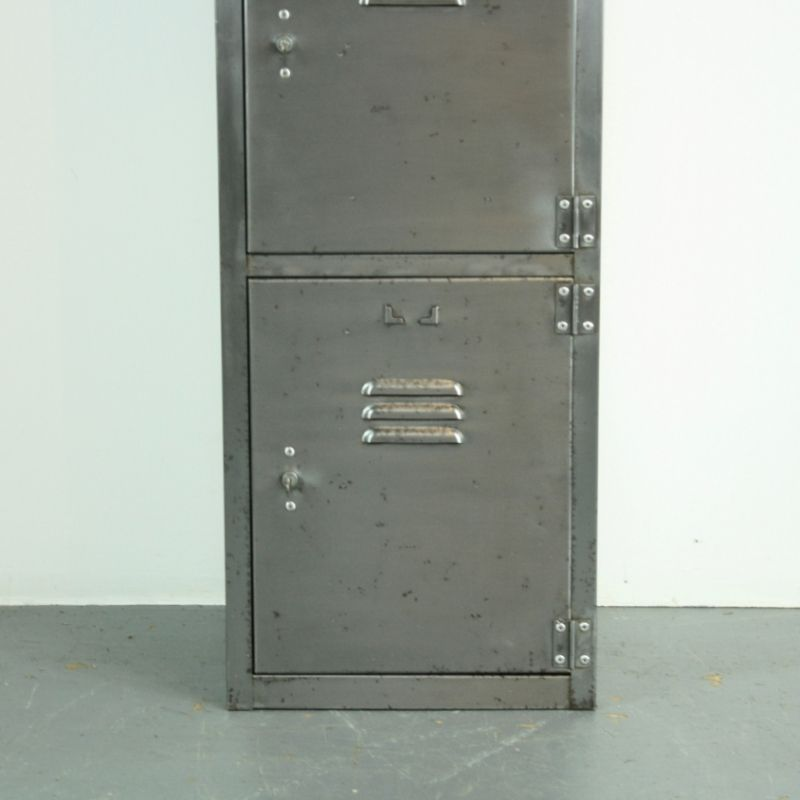 Vintage Locker With 4 Compartments