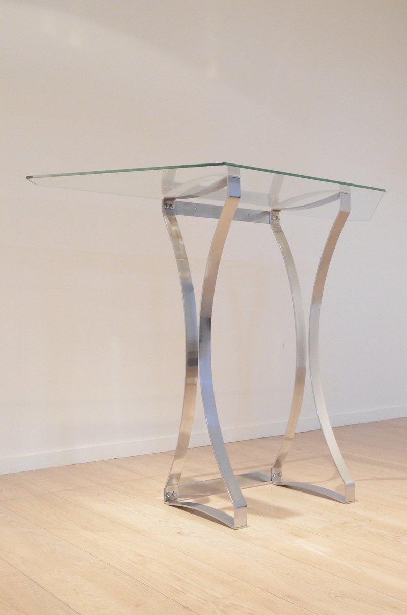 Consolle da ingresso in vetro trasparente e con struttura for Consolle in vetro per ingresso