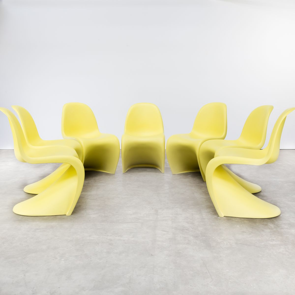 vintage panton chairs by verner panton for vitra set of 7 - Panton Chair