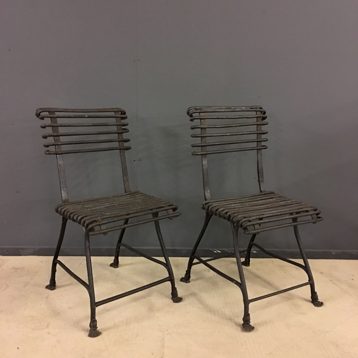 Antique french wrought iron chairs from arras 1880s set for Wrought iron furniture