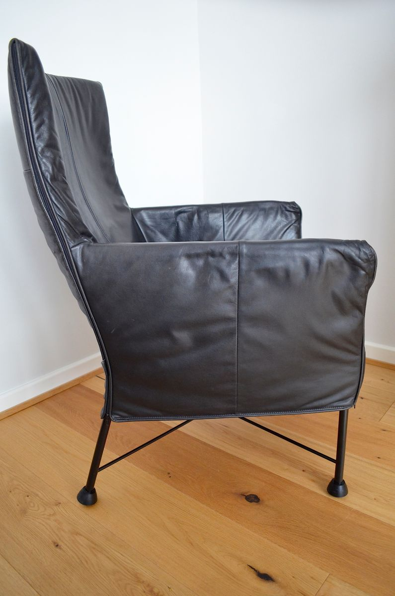 Chaplin leather lounge chair by gerard van den berg for for 1980s chair