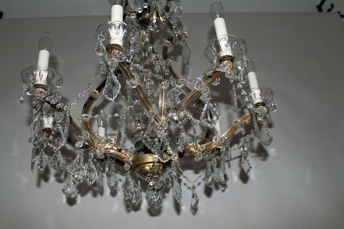 Kronleuchter Mit : Kristall kronleuchter mit kerzenf?rmigen lampenfassungen er bei pamono kaufen