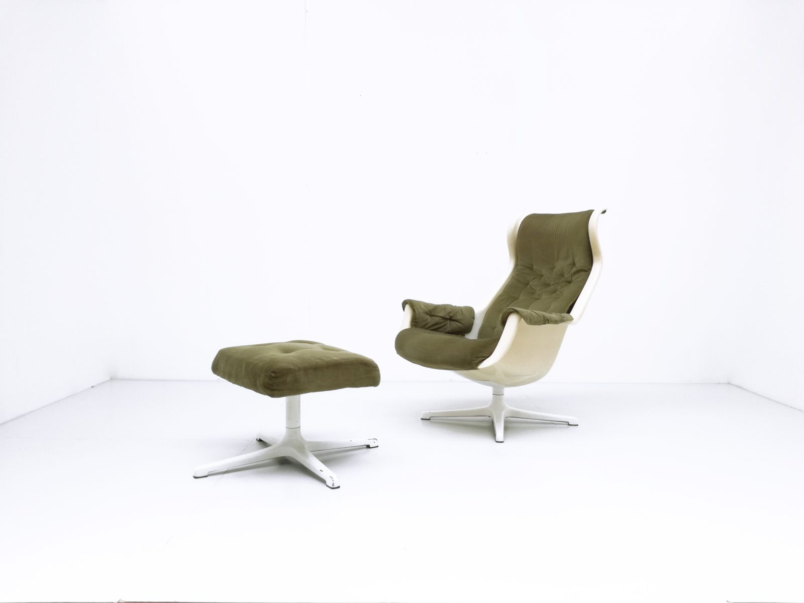 Vintage Galaxy Chair & Ottoman by Alf Svensson & Yngve Sanström