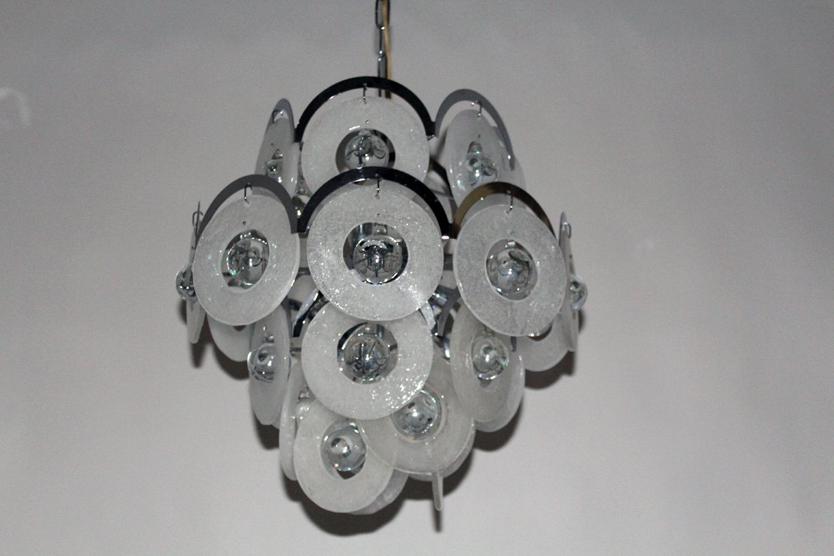 Vintage murano glass chandelier from vistosi 1960s for sale at pamono vintage murano glass chandelier from vistosi 1960s aloadofball Gallery