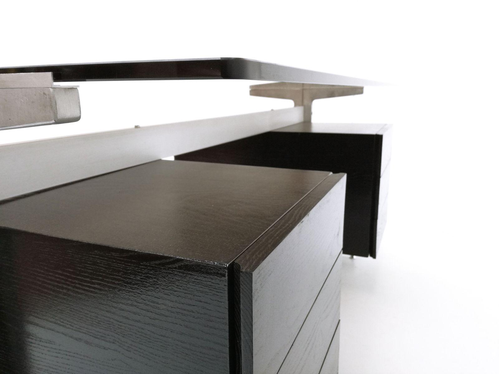 bureau avec double compartiment par etienne fermigier pour jfr 1970s en vente sur pamono. Black Bedroom Furniture Sets. Home Design Ideas