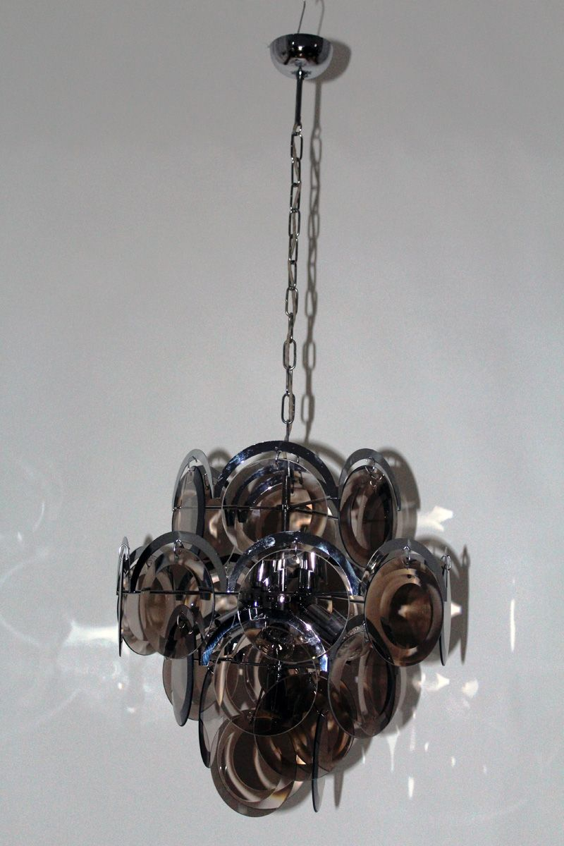 Vintage milanese chandelier from vistosi 1960s for sale at pamono vintage milanese chandelier from vistosi 1960s aloadofball Gallery