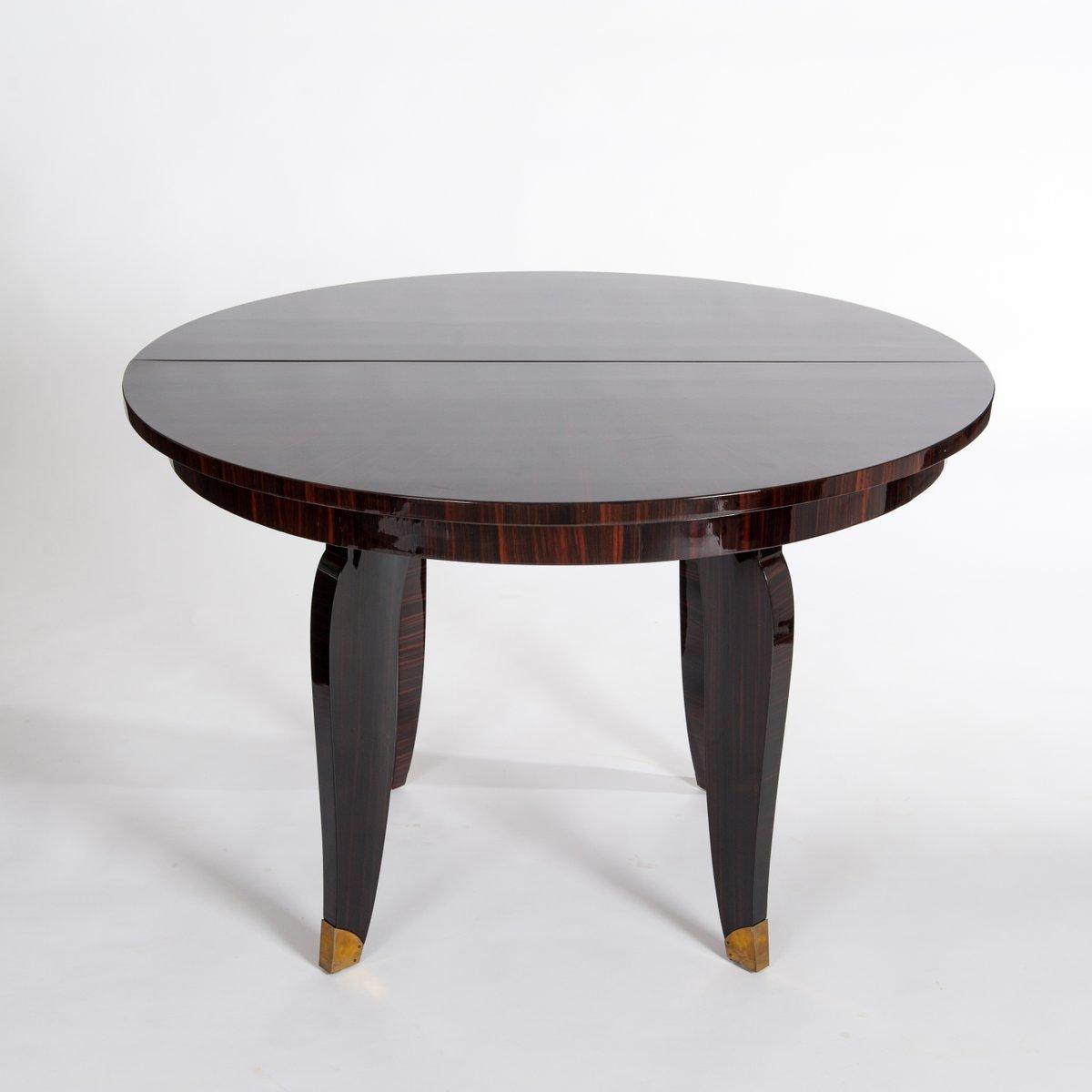 runder art deco esstisch 1935 bei pamono kaufen. Black Bedroom Furniture Sets. Home Design Ideas