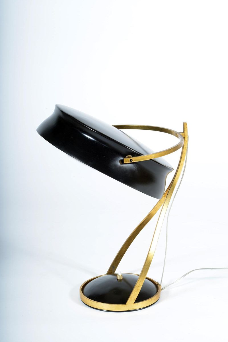 lampe de bureau commander ajustable de chiarini 1957 en vente sur pamono. Black Bedroom Furniture Sets. Home Design Ideas