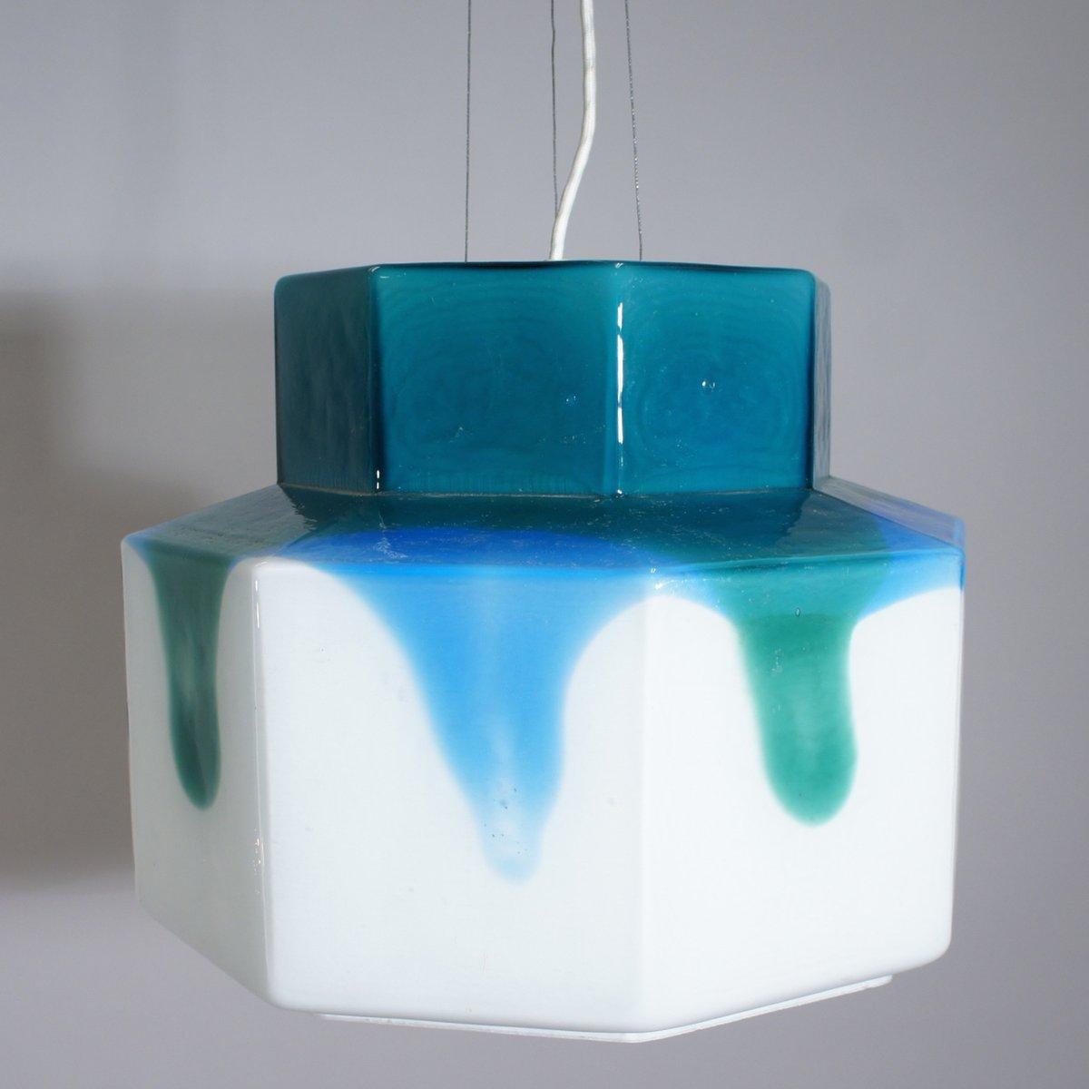 vintage deckenlampe aus glas von helena tynell f r flygsfors bei pamono kaufen. Black Bedroom Furniture Sets. Home Design Ideas
