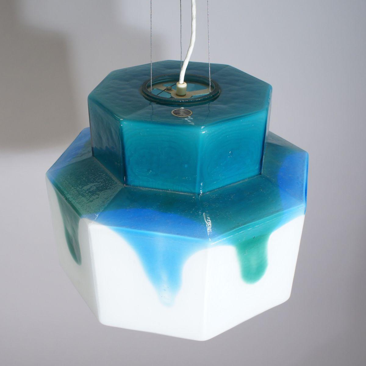 vintage deckenlampe aus glas von helena tynell f r. Black Bedroom Furniture Sets. Home Design Ideas
