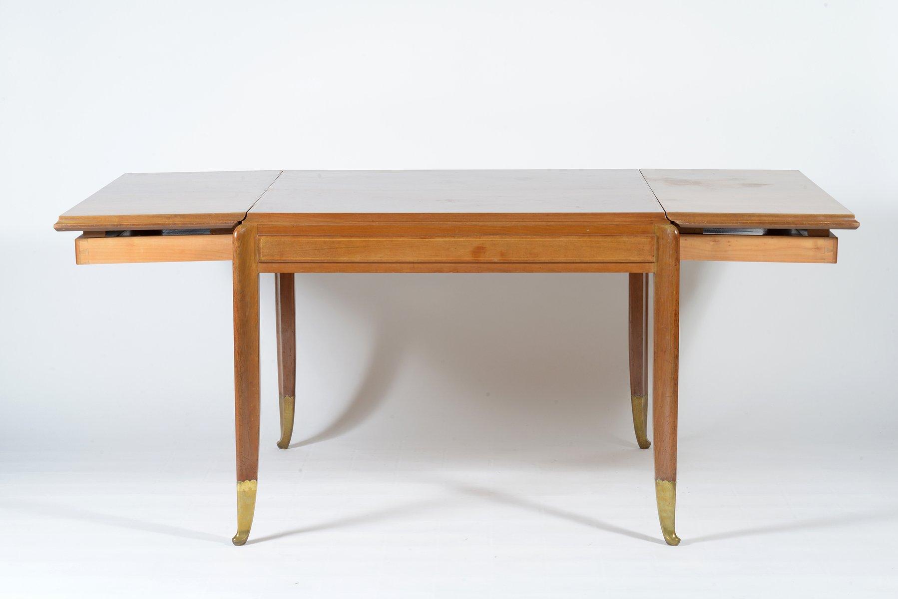 Italian Walnut Dining Table Square Italian Walnut Dining Table From Atelier Borsani Varedo