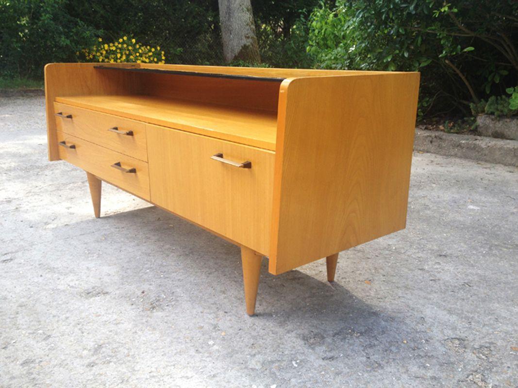 niedriges skandinavisches sideboard bei pamono kaufen. Black Bedroom Furniture Sets. Home Design Ideas