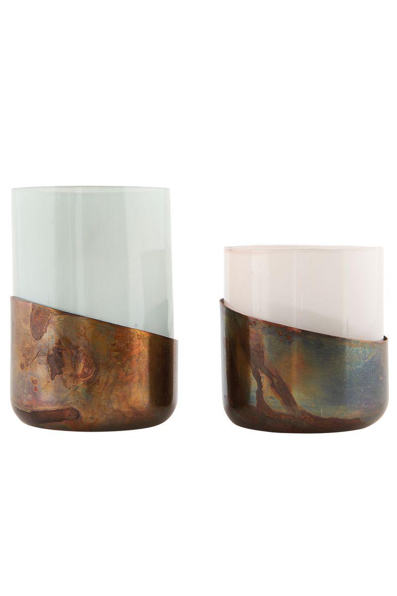 teelichthalter aus kupfer von house doctor 2er set bei pamono kaufen. Black Bedroom Furniture Sets. Home Design Ideas