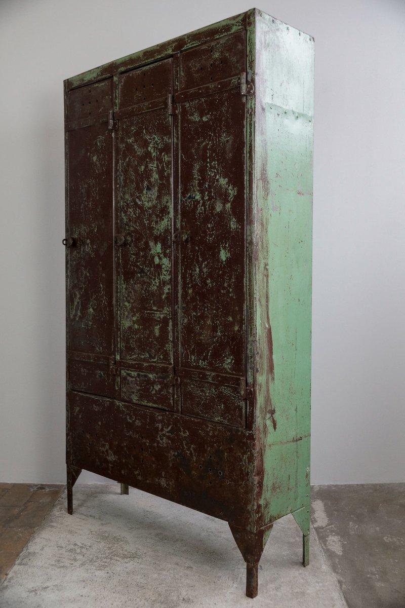 vintage industrial steel locker 1930s for sale at pamono. Black Bedroom Furniture Sets. Home Design Ideas