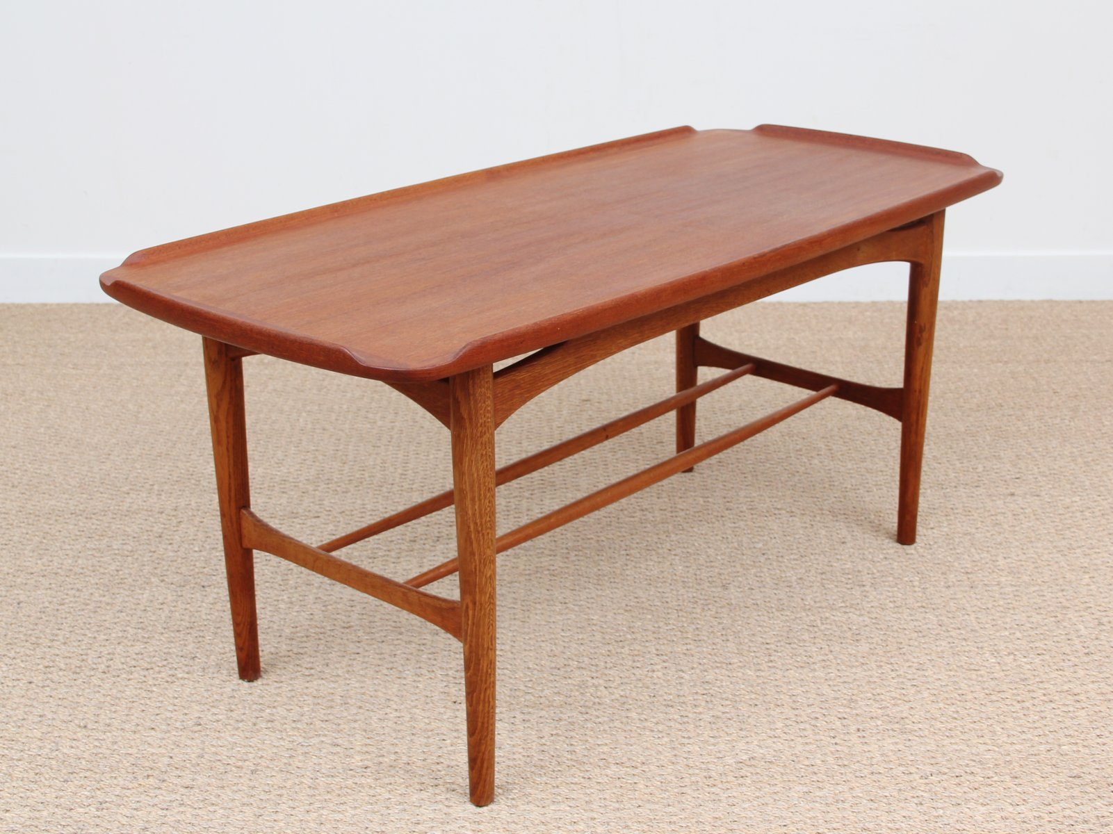 Mid century coffee table in teak 1950s for sale at pamono Mid century coffee tables