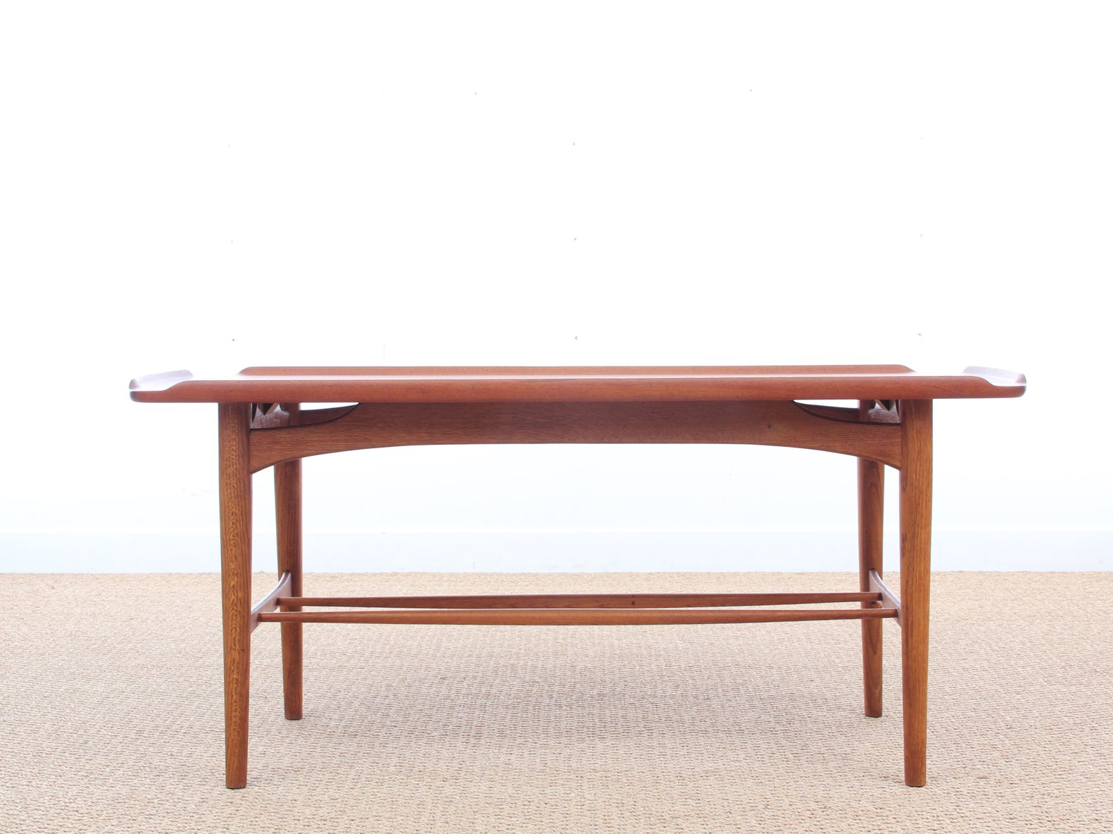 MidCentury Coffee Table in Teak 1950s for sale at Pamono