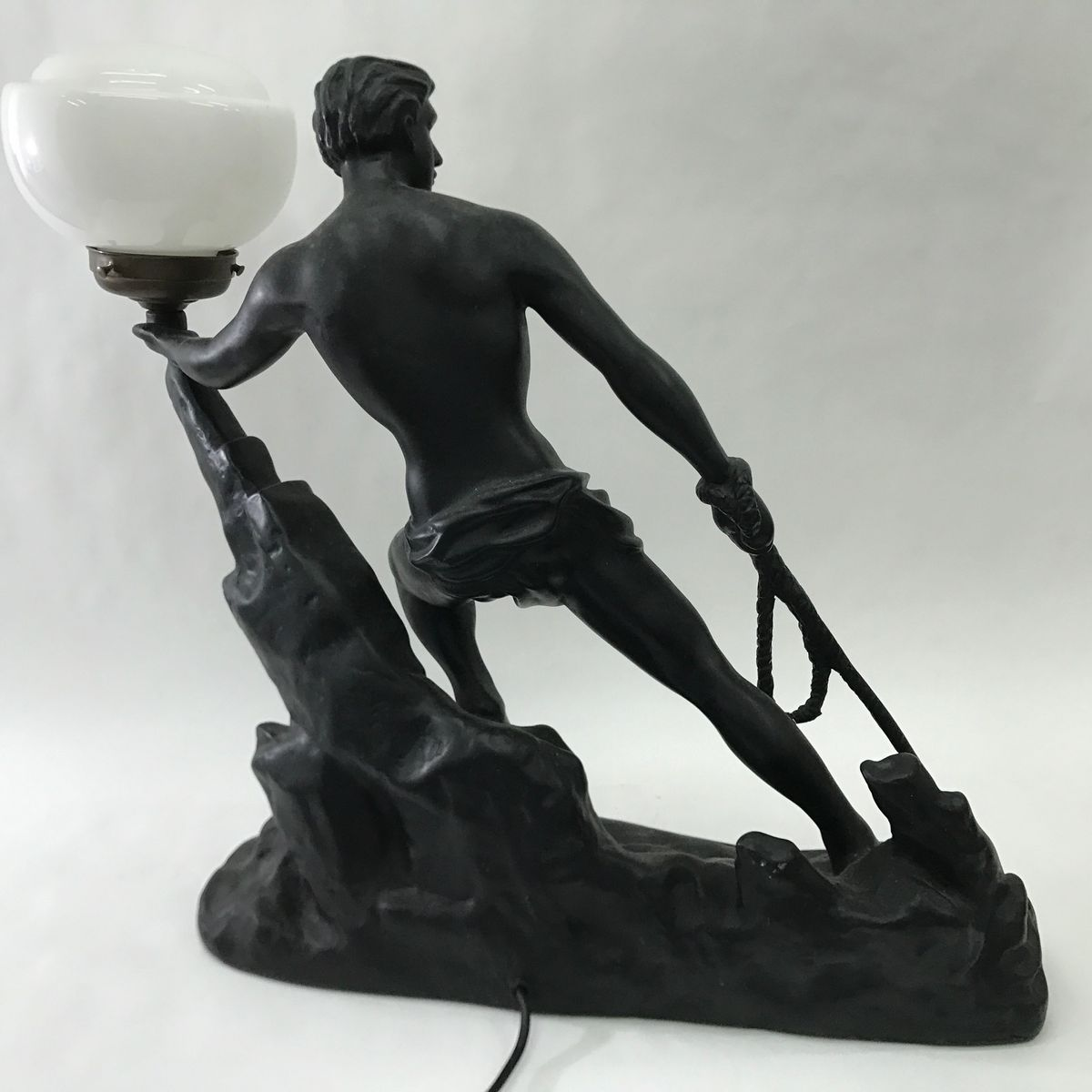 french art deco resin opaline glass table lamp 1930s for sale at pamono. Black Bedroom Furniture Sets. Home Design Ideas