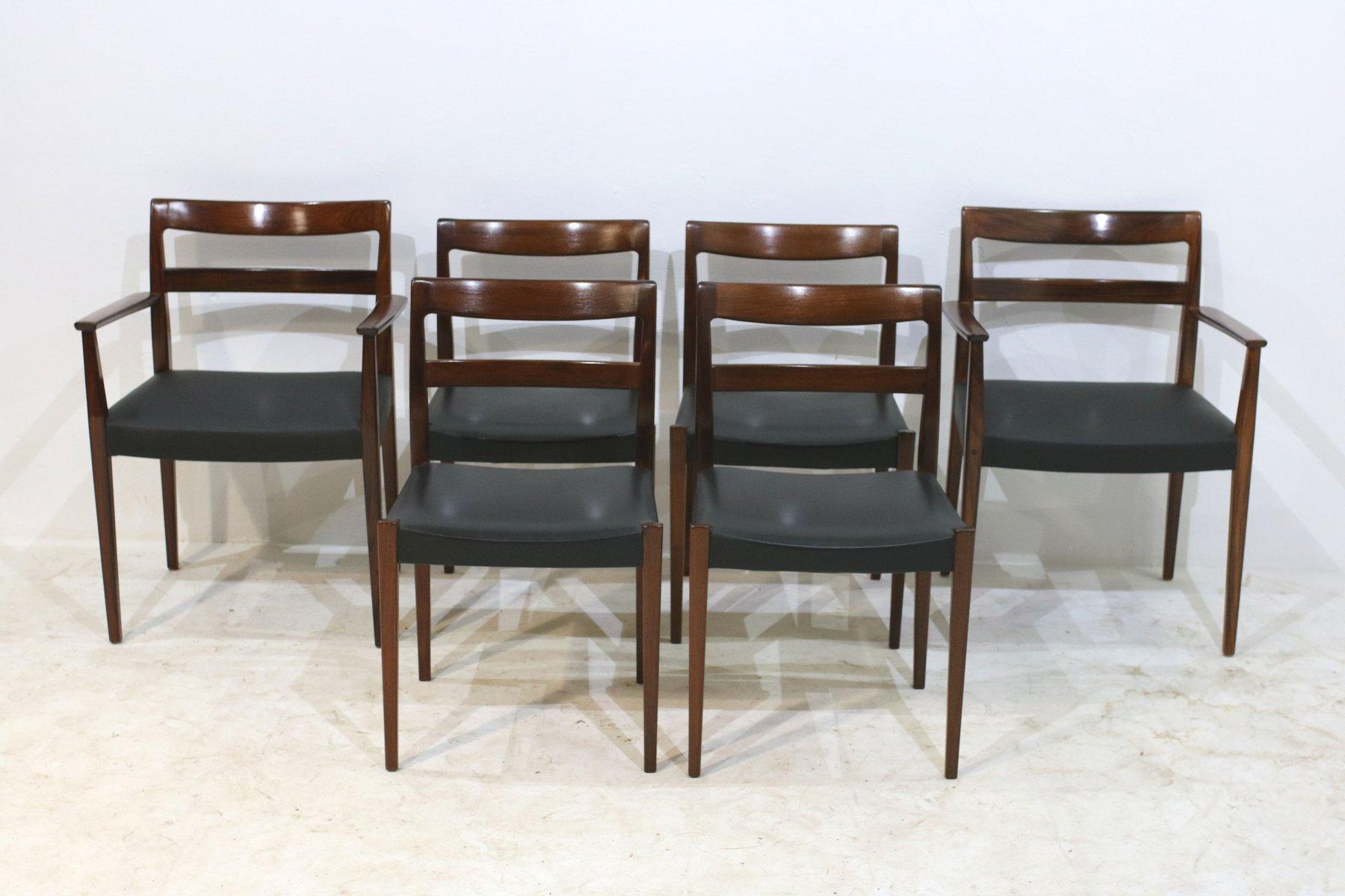 vintage garmi esszimmer armlehnst hle von nils jonsson f r troeds 6er set bei pamono kaufen. Black Bedroom Furniture Sets. Home Design Ideas