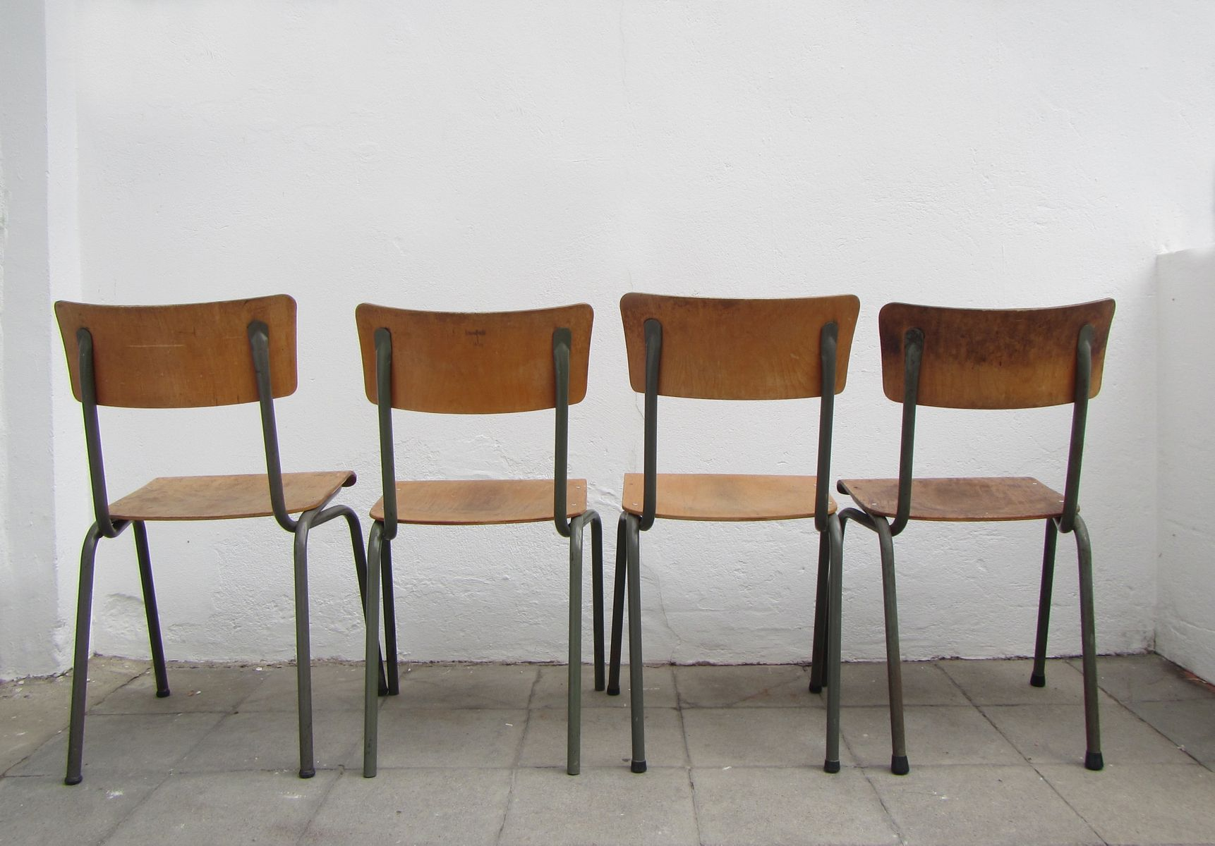 Belgian Industrial Chairs 1960s Set of 4 for sale at Pamono