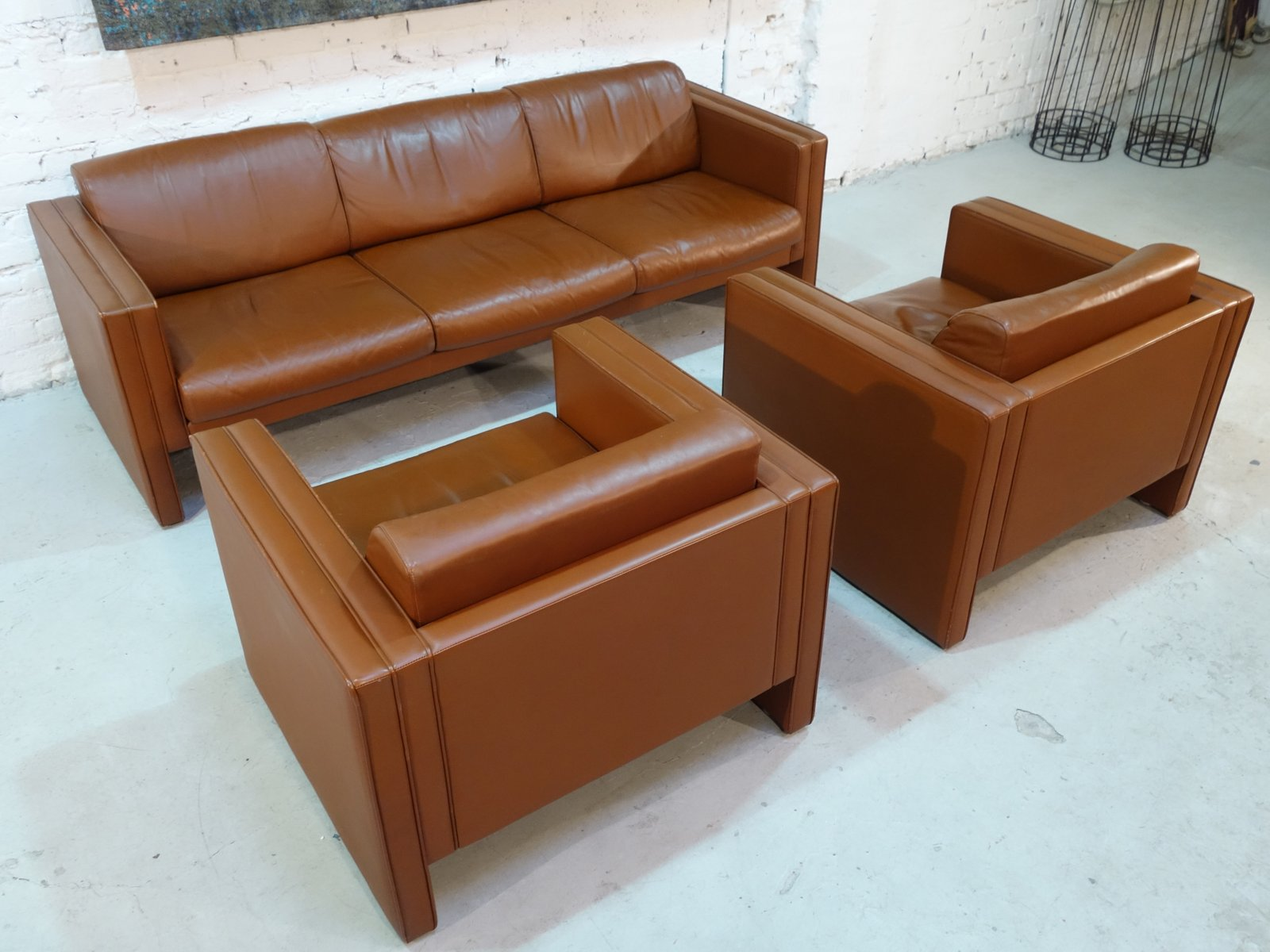 Sofa & Two Armchairs from Walter Knoll 1980s for sale at