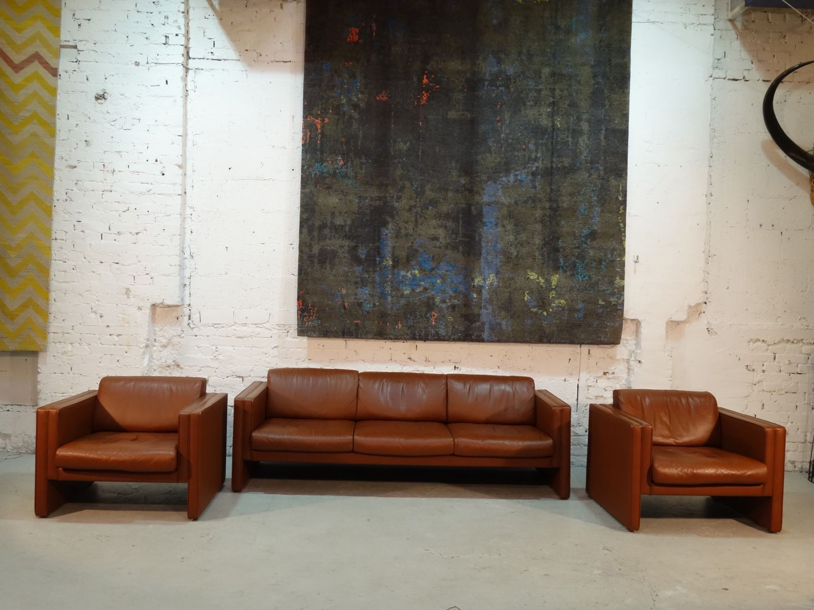 Sofa two armchairs from walter knoll 1980s for sale at pamono parisarafo Gallery