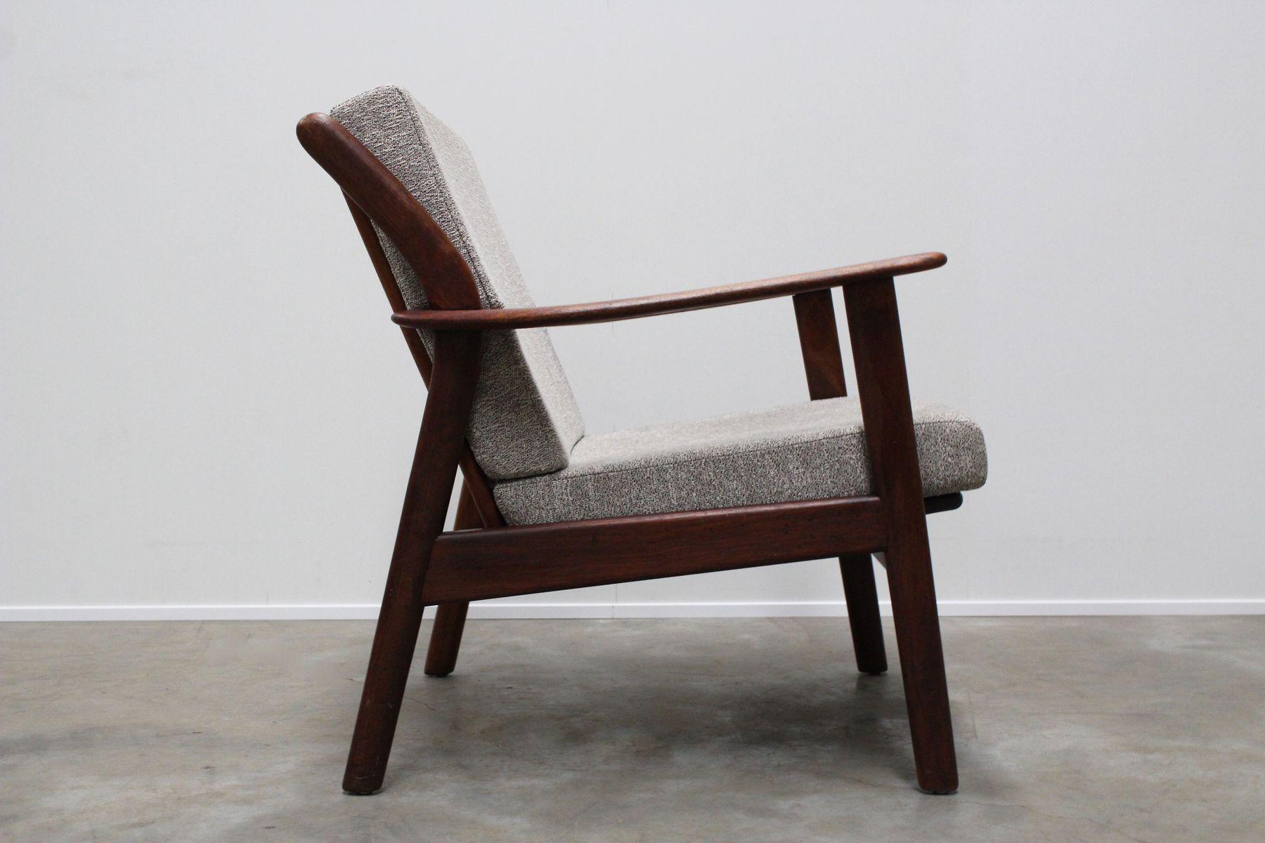 Mid century dutch teak lounge chair from de ster for Dutch design chair karton