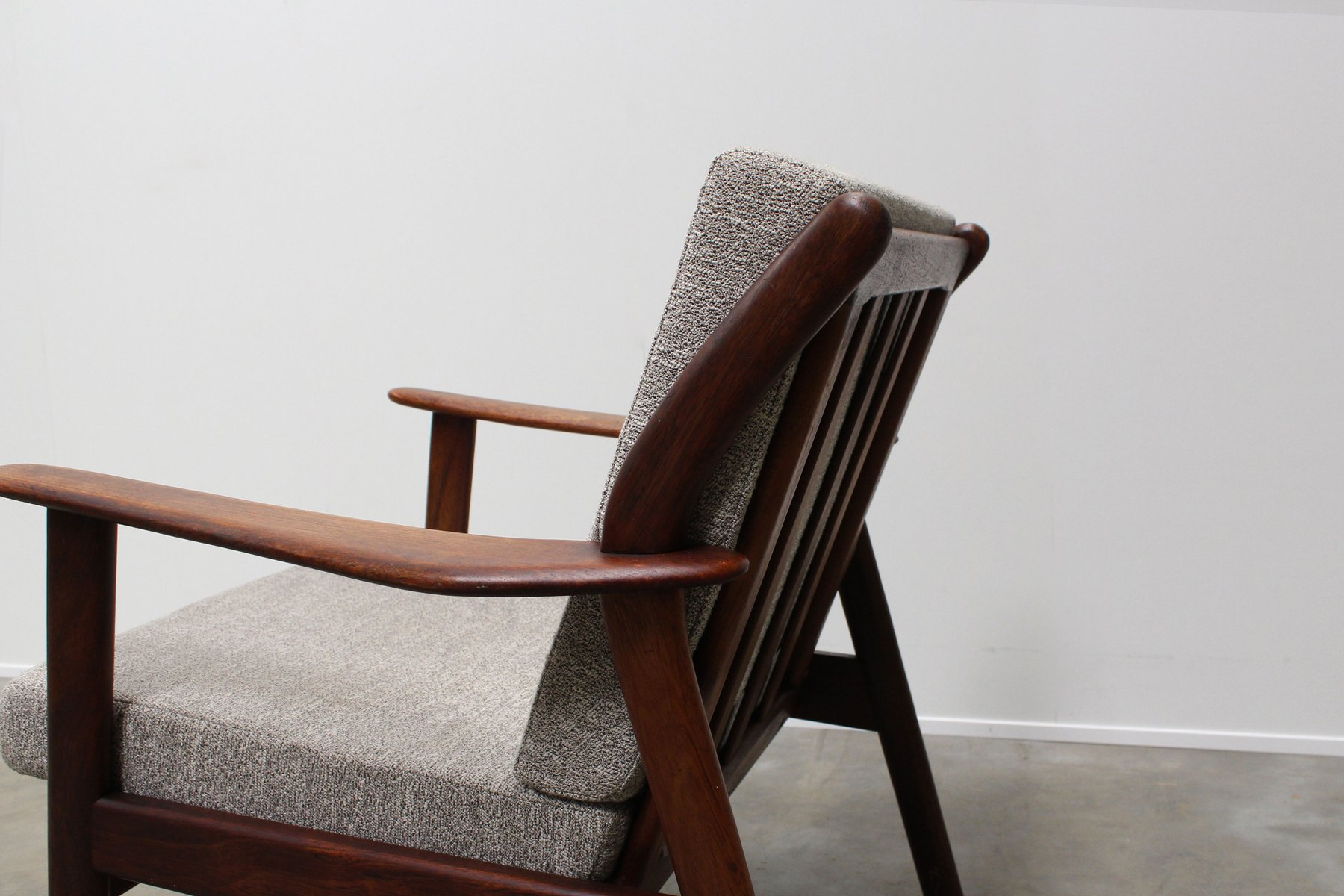 Mid century dutch teak lounge chair from de ster for Dutch design chair uk