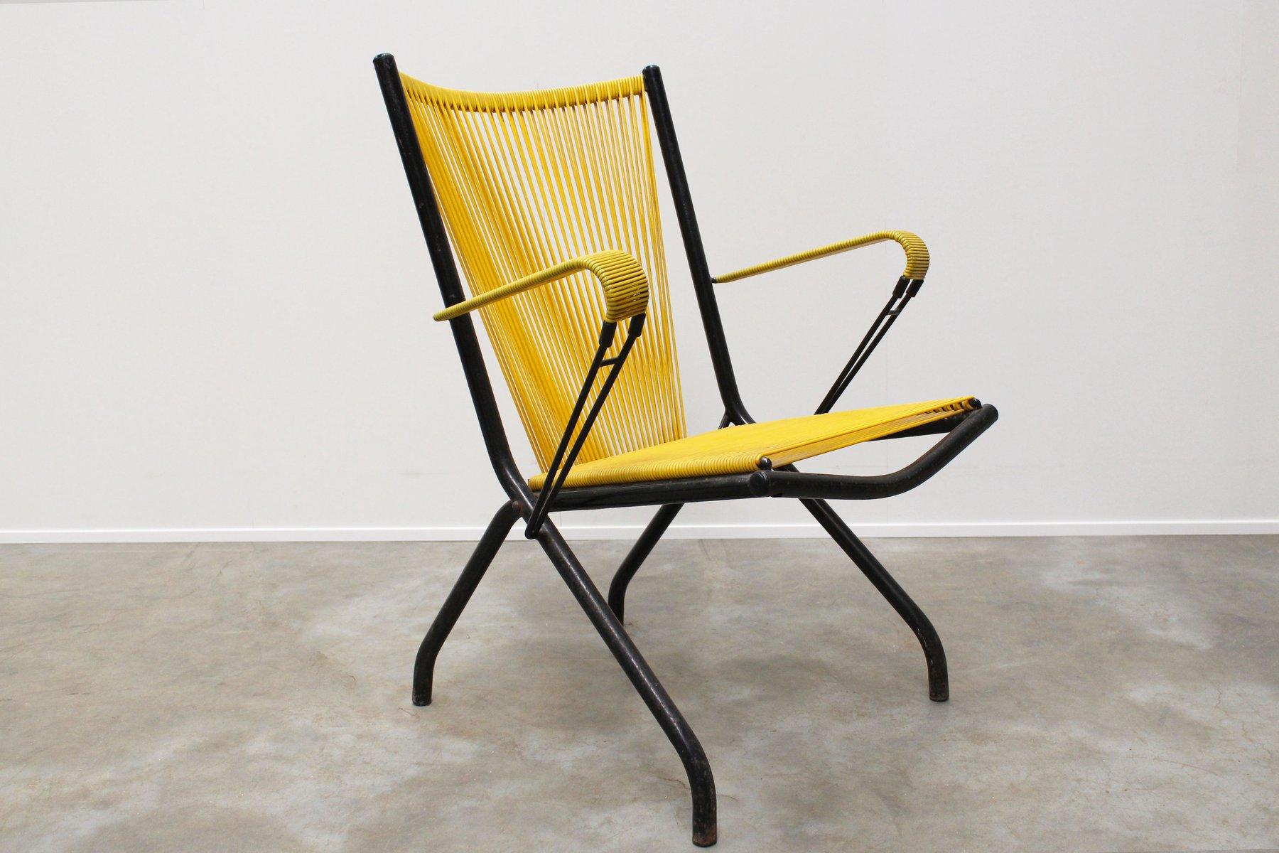 fauteuil scoubidou mid century pliable par andr monpoix. Black Bedroom Furniture Sets. Home Design Ideas