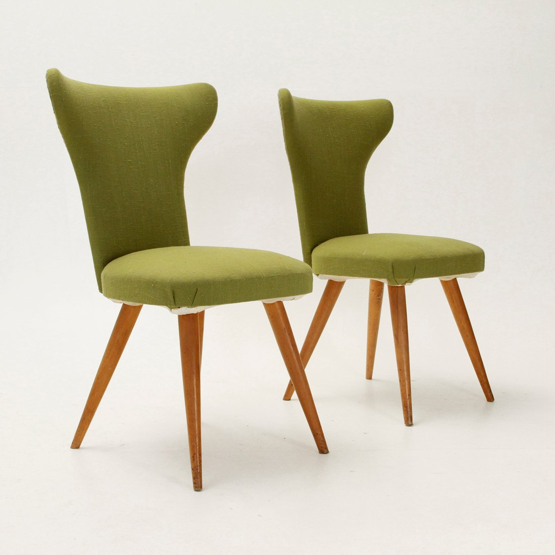 Italian Wingback Chairs 1950s Set Of 2 For Sale At Pamono