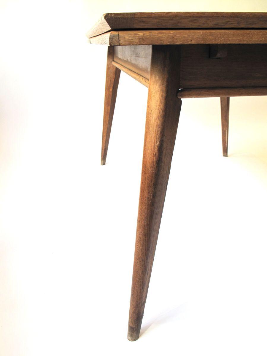 ausziehbarer franz sischer esstisch 1950er bei pamono kaufen. Black Bedroom Furniture Sets. Home Design Ideas