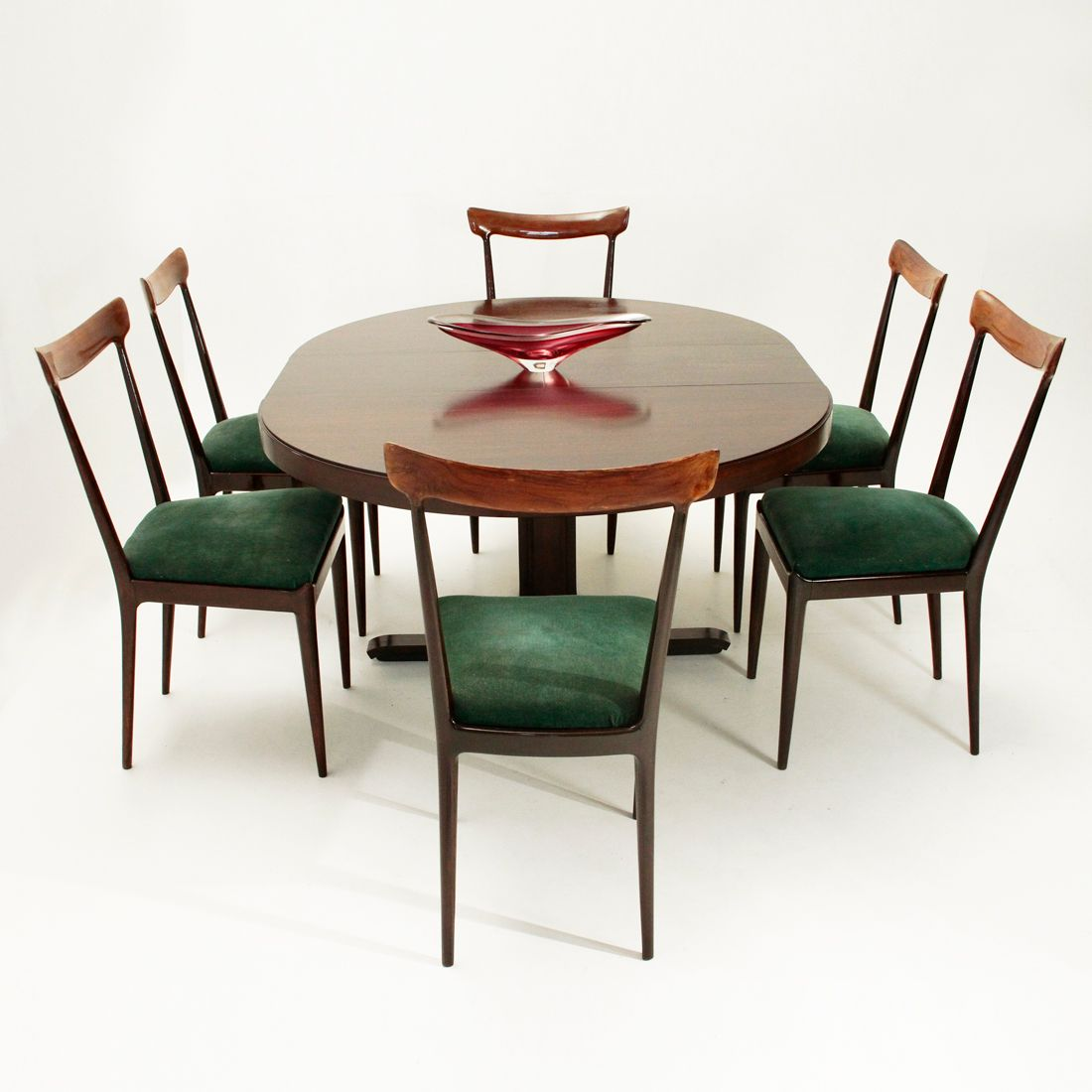 Extensible dining table by giovanni ausenda for stilwood for Dining table extensible