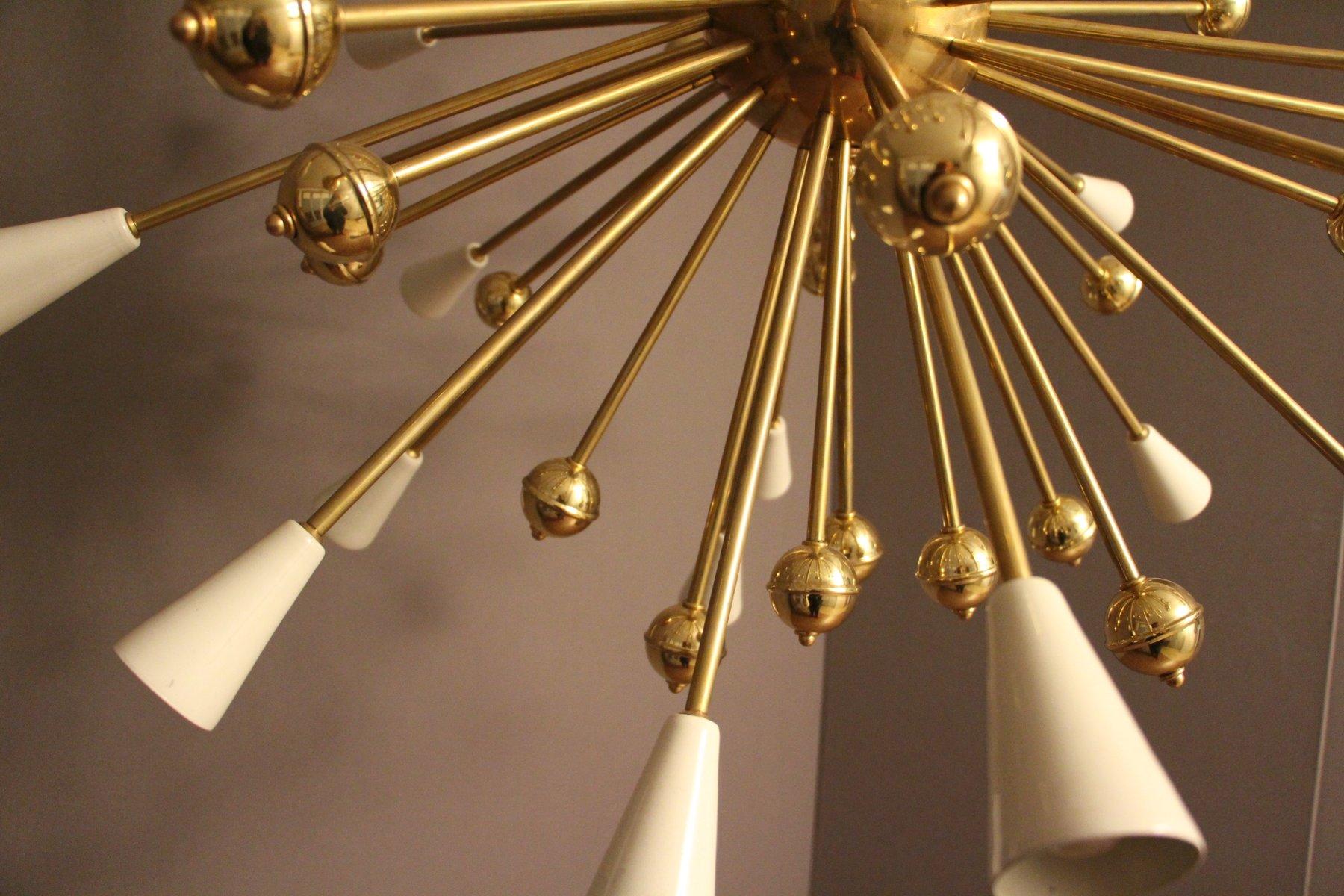 wei er stahl messing sputnik kronleuchter 1970er bei. Black Bedroom Furniture Sets. Home Design Ideas