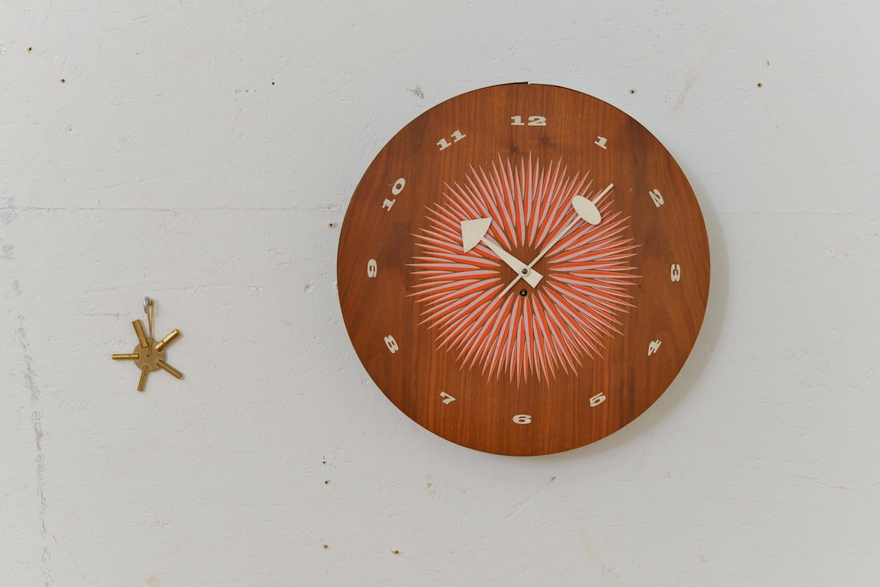 midcentury wall clock by george nelson for howard miller - Howard Miller Wall Clocks